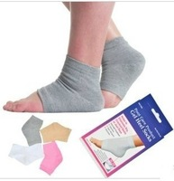 New Foot Care Spa Socks Gel Moisturizes Cracked Dry Heel Socks 1 pairs/lot Free Shipping