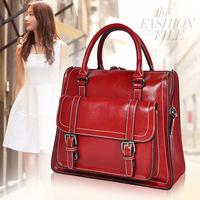 0810 fashion cowhide genuine leather women's handbag shoulder bag cross-body bag motorcycle bag