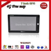 7 inch HD 3D Vehicle GPS Portable Navigation System Bluetooth,AVIN,FM,DDR128M,MTK,WINCE6.0,4GB free map, Car GPS