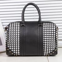 2014 spring and summer women's handbag fashion knitted color block bag female one shoulder handbag women bags 0661