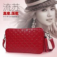 Bags 2014 fashion genuine leather vintage tassel women's handbag one shoulder cross-body small cowhide female bag