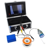New 7 LCD Underwater Video Camera System Fish Finder CR110-7L with Light Fishing Breeding Monitoring 600TVL 30M W1023A eshow