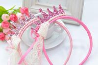 Cute Princess Headwear Hair Accessories Crown Tiara Hairbands Children Kids Girl Baby Gift Headband 6 pcs / lot