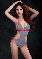 Free Shipping Women Sexy Slim thin triangular one piece Europe and America sexy Swimwear Ladies Nylon Body Suit Swimwear