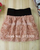 2014 Summer Fashion 3D Tunic Rose Ball Women Skirts