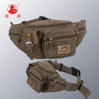 [God of War] 2013 waist pack travel storage bag multifunctional bag ride casual canvas waist pack