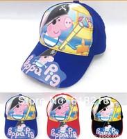New Children's Accessories cute Peppa pig figures Adjustable Hat Anime Cosplay Cap  Children's Caps Sun hat HAT2105