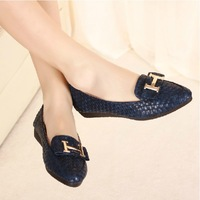 2013 fashion comfortable small flat pointed toe shoes flat heel casual shoes