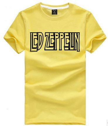 Chinese Size S~3XL rock tee shirt Blues Rock style tshirt Led Zeppelin letter printing t shirt short sleeve t-shirt(China (Mainland))
