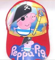Free shipping 4 Styles Peppa Pig Hat Baseball Hat Kid Summer Cap for Girls Boys Children HAT320