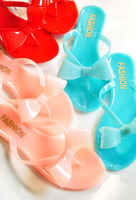 Brief bow jelly slippers flip flops