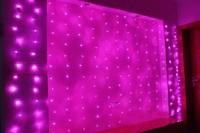 3.5*0.5m Wedding Holiday Christmas Lights Background Decoracao Curtain Lamps 120 SMD 24 under hang 10V/220V EU/US/UK/AU