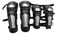 1 set Stainless Steel Anti-piercing Motorcycle safety Elbow & Knee Pads Racing Driving Protective Knees & Elbows