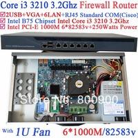 ticket vending machines network router barebone pc with 6 Gigabit 82583v LAN Intel Core i3 3210 3.2Ghz Wayos PFSense ROS support