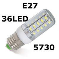2014 NEW Cree SMD 5730 Chip E27 LED 220V 12W Led light Corn lamp 36leds,High brightness energy saving Led Bulb Light 10pcs/LOT