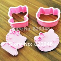 Free Shipping 1 Set=2 Pcs/lot Cat Shape Cookie Cutter Cake Fondant Mould Tools