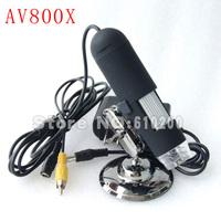 Freeshipping 800X AV TV Digital Microscope Microscope Endoscope Magnifier Camera FOR PCB repair Observe biological/botany