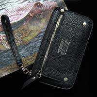 Double Zipper Genuine Leather Wallet Men Wallets Famous Brand Male Clutch Purses Cowhide Change Purse Carteira Masculina TBG0112