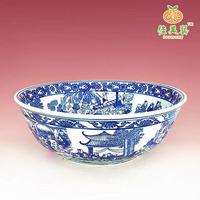 Fine ceramics wash basin counter basin art basin brief blue and white rustic kitchen sink 572