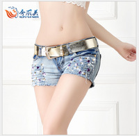 new summer 2014 for Women vintage shorts jeans feminino Ripped Hole short jeans denim female distress cutoffs shorts NZDK21