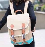 2014 New Fashion canvas Star Female Backpack Preppy Style Shoulder Bag all-match middle school students school bag Free Shipping