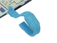 Mini Gift ColorfulSilicon Waterproof 4g/8g/16g/32g  Novelty Pen Drive, Bracelet USB Stick 6 Colors 100 pcs a lot Free Shipping