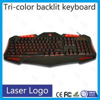 Free Shipping!!! wired black waterproof led backlit keyboard