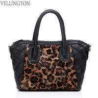 Fashion fashion 2014 women's genuine leather handbag Women leopard print bags first layer of cowhide female handbag