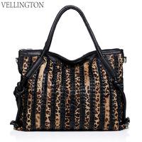Fashion 2014 women's genuine leather handbag leopard print bag Women sheepskin one shoulder cross-body autumn and winter