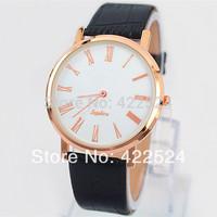 2014 New Model Fashion Women/Man Watch  Leather  Luxury  Lady Clock Special Design Elegant Ladies Watches Top Brand Free Box