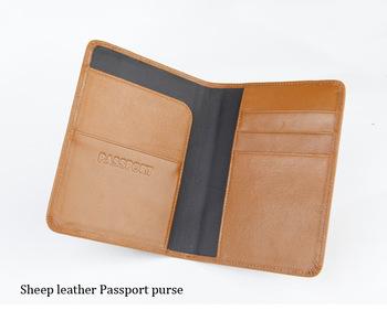 2014 Passport Holder Luxury Designer 100  Genuine Leather Men Passport    Designer Passport Holder