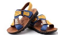 Cowhide genuine leather sandals male 2014 child sandals children baby boy summer size 26-37