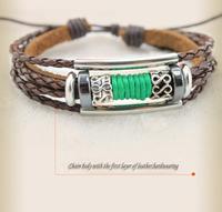 Korean Fashion Personality Serpentine Leather Braided Bracelet