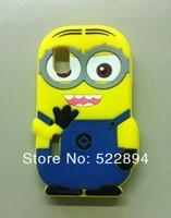 Cute 3D Despicable ME2 Soft Silicon Cover Back Phone Case for LG Optimus L5 E610/E612 Free Shipping