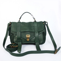 Free Shipping! Medium size Women's  Army Green Lamb leather PS1 Handbag Totes Messenger bags  Size: 30 x 20 x 12,5cm