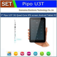 "Newest Pipo U3T RK3188 Quad Core 1.6Ghz Android 4.2 1GB+16GB 7"" 1280*800 IPS Bulit-in 3G WCDMA GPS Phone Call Tablet PC Russia"