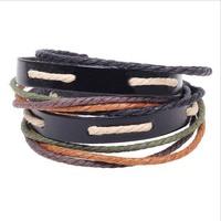2014 New Fashion Brand Punk Style Multilayer Buckle Leather Bracelets & Bangles Rivet Bracelet For Women Men White Wholesale