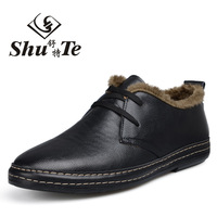 2014 Free Shipping New Men Sneaker Peas shoes Winter Trendy male taxi velvet warm boots cotton boots leather men's boots