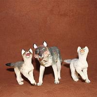 Safari artificial animal model toy decoration gray wolf