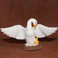 Safari model decoration toy wild animal goose white swan