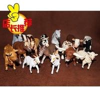 Artificial animal model toy safari plastic decoration sheep donkey 14