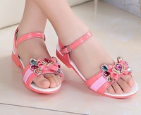 2014  Package mail Children's  sandals  5665 Girls sandals  Sports shoes  Light and soft bottom  Breathable mesh fabric