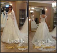 2014 Popular Floor Length White Princess Wedding Dress In Brazil robe de mariage