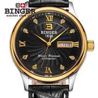 2014 year hot sale  lucky wheel double calendar black male watch/mechanical watch