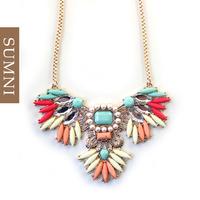 Fashion quality multicolour sparkling CZ diamond gold long necklace design necklace