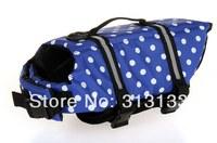 DOG LIFE JACKET & DOG LIFE VEST PET SAVER XS, SMALL, MEDIUM, LARGE, XL BLUE DOTS