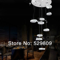 Free Shipping modern design led chandelier stairs  D60*H160cm 10-lights led lamps 110-240V home lighting