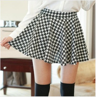 2014 Pleated skirts Big swing sundress Four Seasons Wild skirt  Puff skirt hot Houndstooth Elastic wild skirt