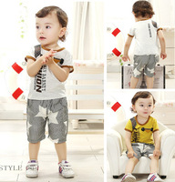 2014 fashion baby letter clothing sets summer.baby boy short t-shirt +short pants.100% cotton children clothes products wholsale