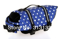Wholesale Dog Life Jacket Vest X-small Small Medium Large X-large 7 Colors  one pack = 20pcs Blue Dots